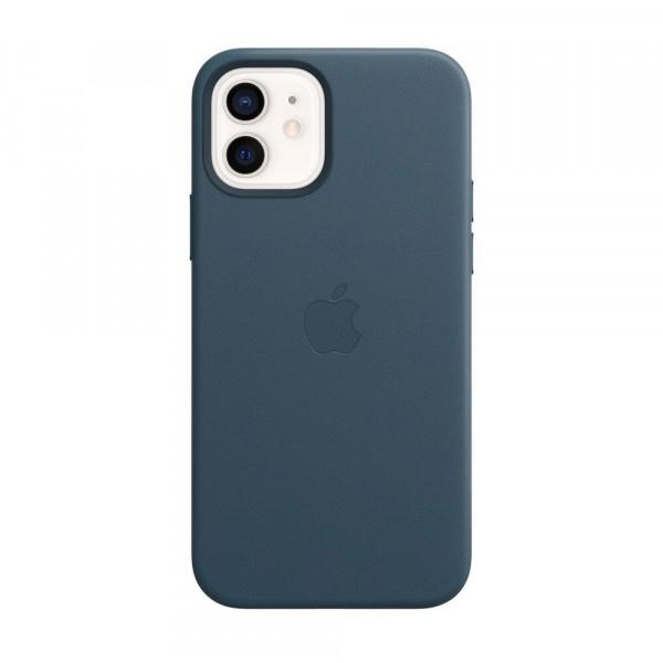 Чехол iPhone 12 mini Apple Leather Case (Baltic blue)