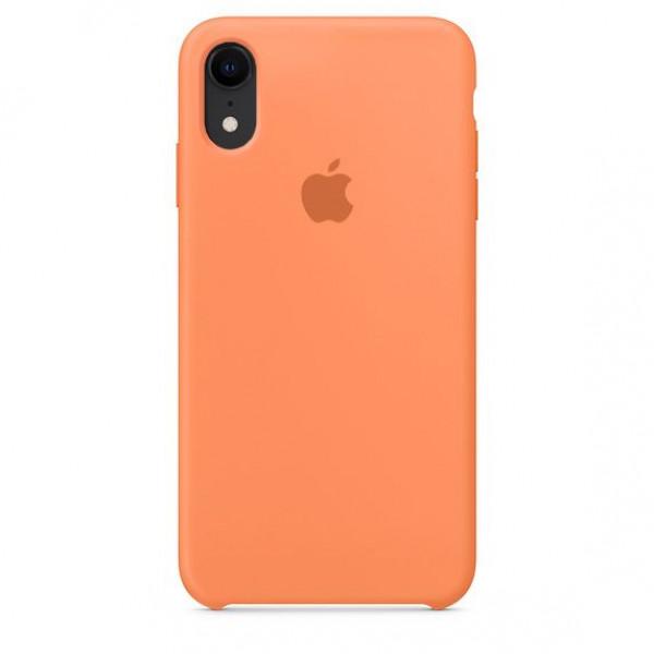 Чехол Накладка для iPhone Xr Apple Silicon Case (Papaya) (Полиулетан)