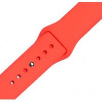 Ремешок-браслет для Apple Watch 42mm/44mm Silicone Band (rose red)