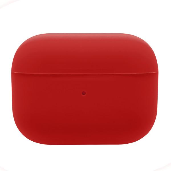 Чехол для AirPods Pro Silicone slim Case (red)