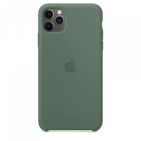 Чехол Накладка для iPhone 11 Pro Max Apple Silicon Case (Pine Green) (Полиулетан)