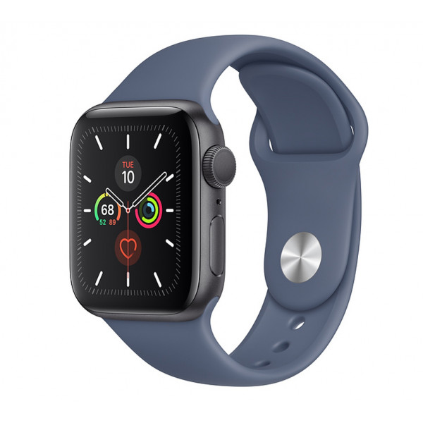 Apple Watch Series 5 GPS 40mm Silver Aluminum with Alaskan Blue Sport Band (MWPT2)