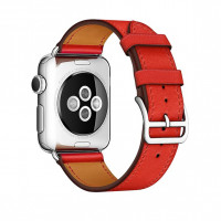 Ремешок для Apple watch 42 mm Single Tour Deployment Buckle (red)
