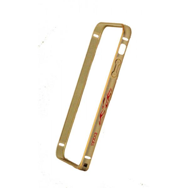 Бампер для iPhone 5/5S IBacks (Золотой) (Алюминий)