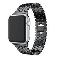 Ремешок-браслет для Apple Watch 42mm/44mm Honeycombs Metall (Black)