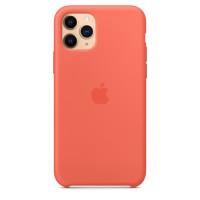 Чехол Накладка для iPhone 11 Pro Apple Silicon Case (Clementine) (Полиулетан)