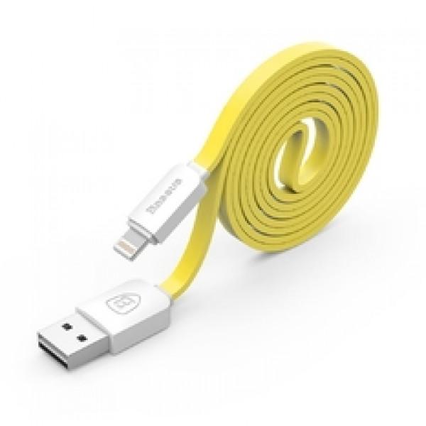 Кабель синхронизации Baseus String Series Noodle Style Lightning to USB Data Charge (1M) Yellow