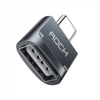 Переходник Rock USB AF toTape-C to  Adapter (gray)