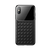Чехол накладка iPhone Xs Max Baseus Weaving Case (black)