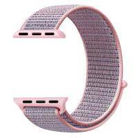 Ремешок для Apple Watch 38mm Nylon Sport Loop Band (Pink Sand)