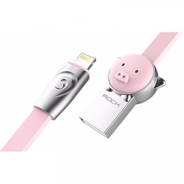 Кабель ROCK Pig Lightning (1m) (Pink)