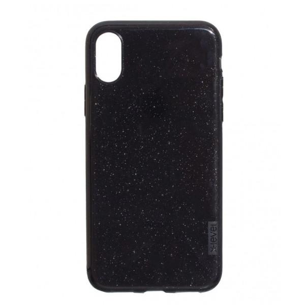 Чехол Накладка для iPhone Xs Max X-Level Rainbow Case (black)