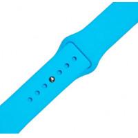 Ремешок-браслет для Apple Watch 38mm Silicone Band (Голубой)