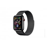Apple Watch Series 4 GPS + LTE 44mm Black Steel w. Black Milanese l. Black Steel (MTV62)