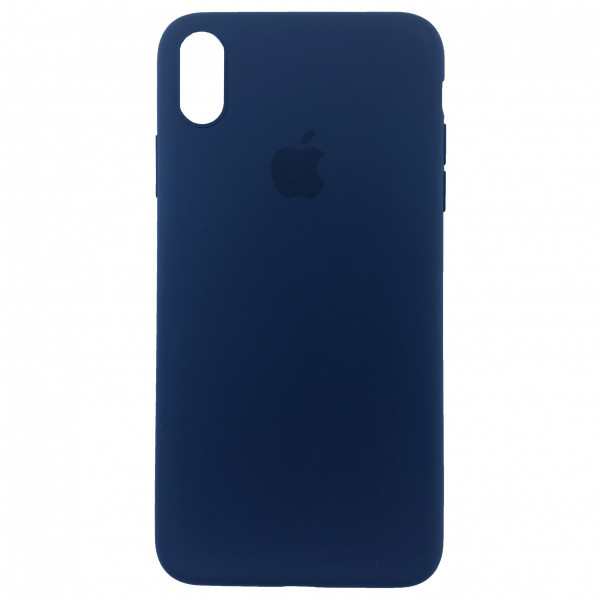 Чехол Накладка для iPhone Xs Max Apple Silicon Slim Case (Blue Horizon) (Полиулетан)