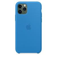 Чехол Накладка для iPhone 11 Pro Apple Silicon Case (Surf Blue) (Полиулетан)