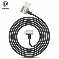 Кабель USB Lightning Baseus T-type Magnet Cable (Side Insert) (Gold-Black)