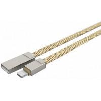 Кабель Apple Lightning LDNIO LS-20 (USB)(1.2m) (Золотой) (Нейлон)