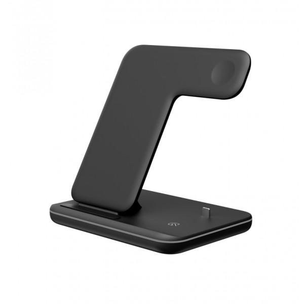 Беспроводное зарядное устройство Smart 3in1 Fast 15W (black)