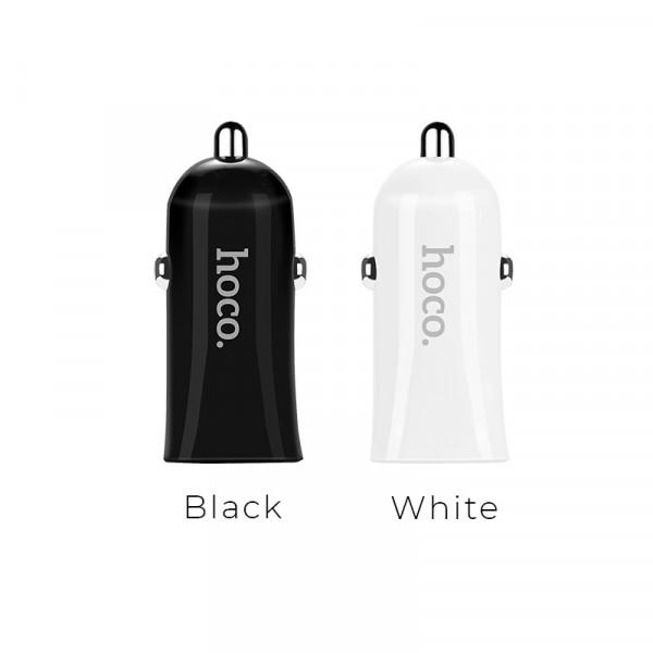 Автомобильное зарядное устройство Hoco Z12 Elite Dual USB Car Charger (Black)