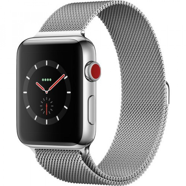 Apple Watch Series 3 GPS + Cellular 42mm Stainless Steel w. Milanese L. (MR1J2)