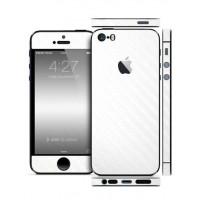 Защитная Пленка для iPhone 5/5S SLIMSKIN (360) (Белый) (Carbon)