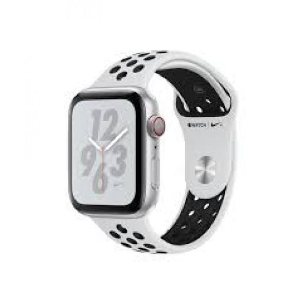 Apple Watch Nike+ Series 4 GPS + LTE 44mm Silver Alum. w. Platinum/Black Nike Sport b. Silver Alum. (MTXK2)