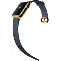 Ремешок для Apple Watch 38mm/40mm Modern Buckle Leather Gold (midnight blue)