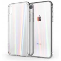 Чехол накладка iPhone Xr Rainbow Case (Clear)