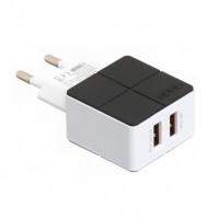 Сетевое зарядное устройство Vidvie PLE204 2USB 2.4A Fast (black) +cable