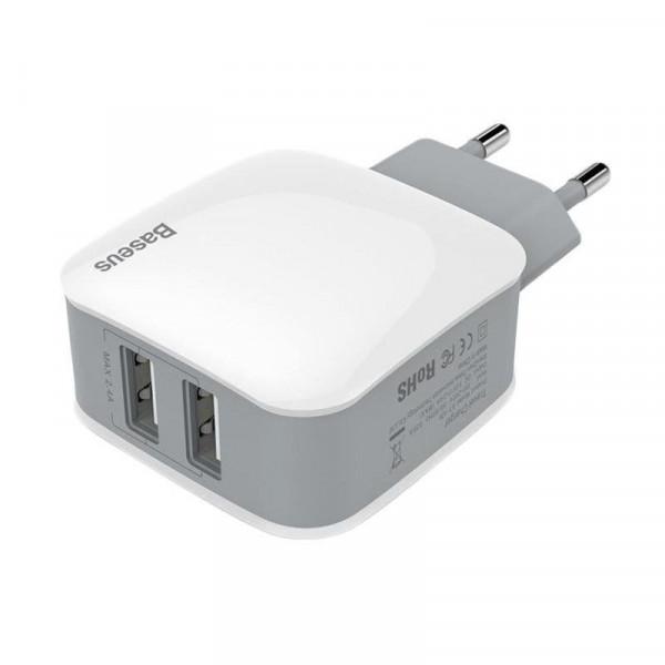 Сетевое зарядное устройство Baseus Letour Travel charger 1USB 1A (Белый)