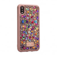 Чехол накладка iPhone XS Max The Bling World Stone TPU Case (colorful)