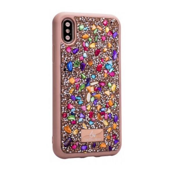 Чехол накладка iPhone XS Max The Bling World Stone TPU Case (colorful)
