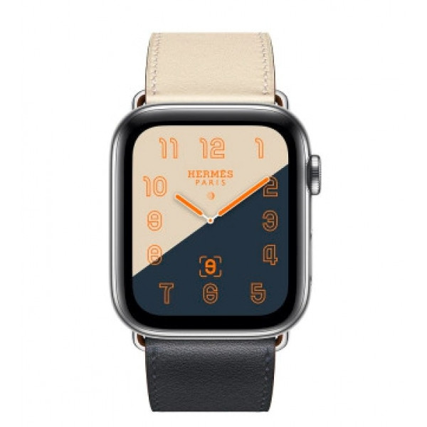 Apple Watch Series 4 Hermes GPS + LTE 44mm Steel w. Indigo/Craie/Orange (MU6X2)