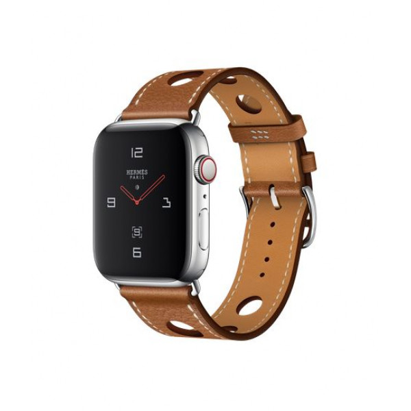 Apple Watch Hermes Series 4 GPS + LTE 44mm Steel w. Fauve Grained Barenia Leather (MU9D2)
