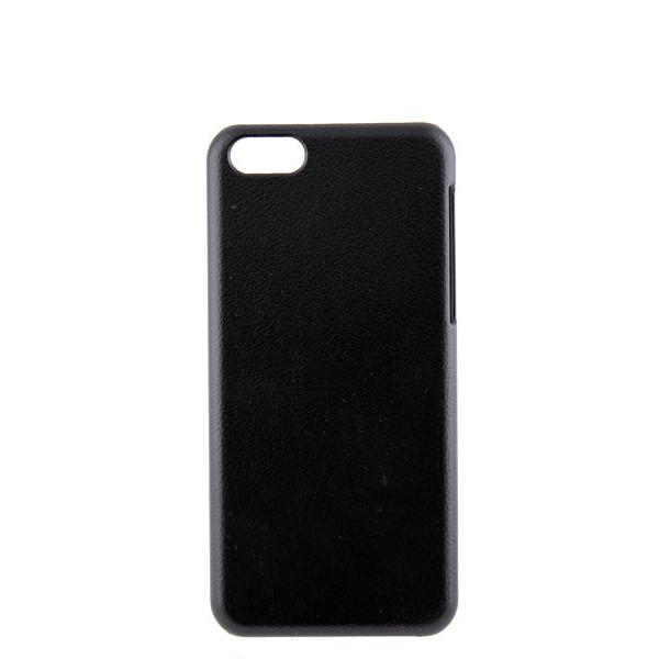 Чехол Накладка для iPhone 5C Jzzs (черный) (кожа)