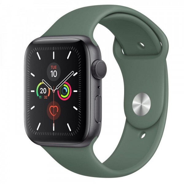 Apple Watch Series 5 GPS 44mm Space Gray Aluminum w. Green b.- Space Gray Aluminum (MWT52)