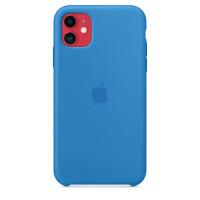 Чехол Накладка для iPhone 11 Apple Silicon Case (Surf Blue) (Полиулетан)