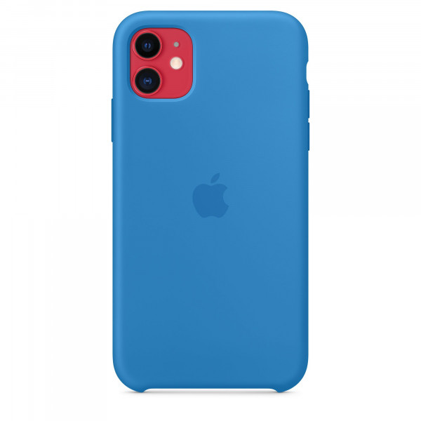 Чехол Накладка для iPhone 11 Apple Silicon Case (Surf Blue) (Полиулетан)