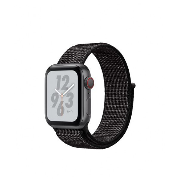 Apple Watch Series 4 Nike+ 40mm GPS + Cellular Space Gray Aluminum Case with Black Nike Sport Loop (MTXH2)