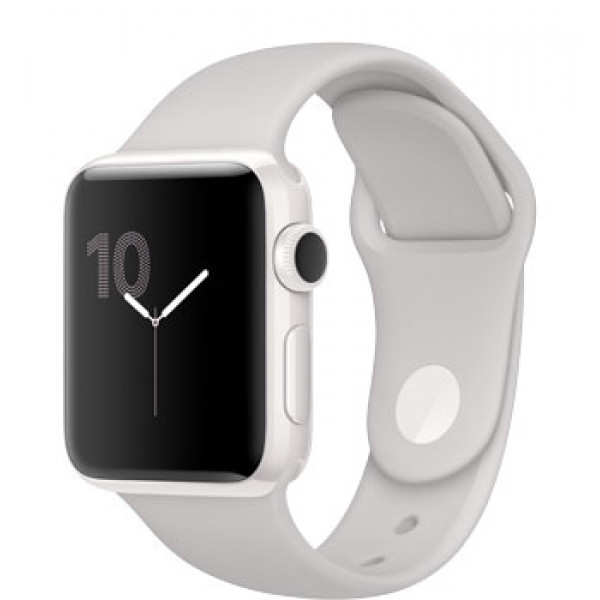 Apple Watch Edition Series 3 (GPS + Cellular) 42mm White Ceramic w. Soft White/Pebble Sport B. (MQKD2)