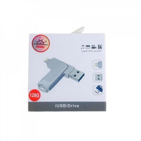 Накопитель памяти USB  Lightning Corsair 128GB (silver)