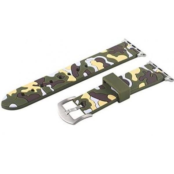 Ремешок-браслет для Apple Watch 38mm/40mm Military Silicone Band (Green)