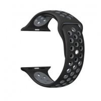 Ремешок-браслет для Apple Watch 38mm Silicone Nike Sport Band (anthracite black)