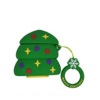 Чехол для AirPods Toys Case Christmas tree (Green)