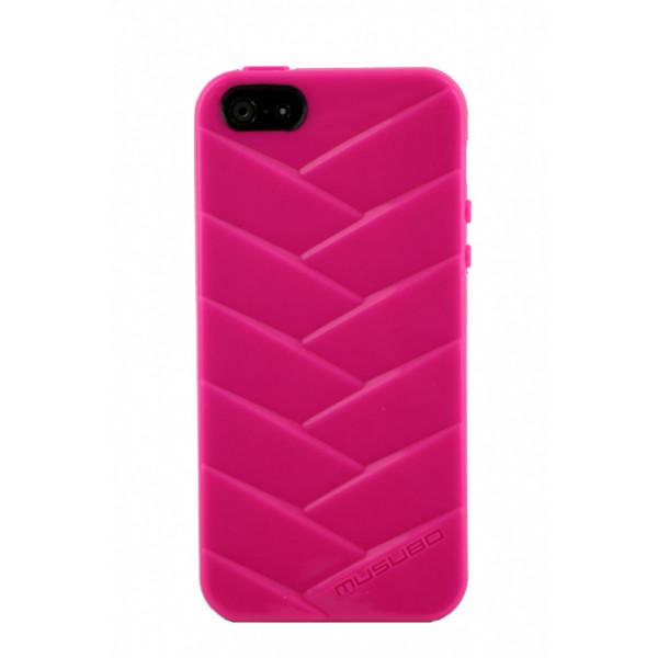 Чехол Накладка для iPhone  5/5S MUSUBO MYMMY (Розовый) (Силикон)