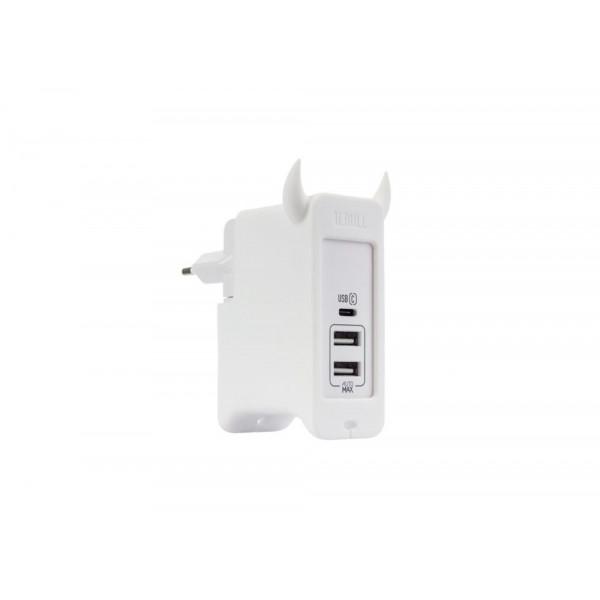 Сетевое зарядное устройство Momax U.Bull 5.4A 2 USB + Type-C (UM3SEUW)