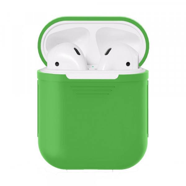 Чехол для AirPods Silicone Case (green) без карабина