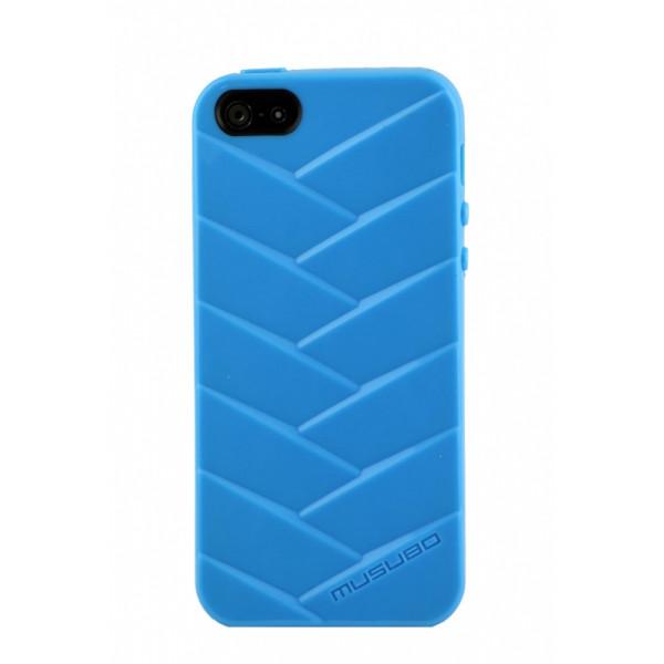 Чехол Накладка для iPhone  5/5S MUSUBO MYMMY(Голубой) (Силикон)