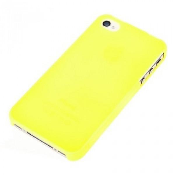 Чехол Накладка для iPhone 4/4S Ultra Slim Case (Жёлтый) (Пластик)